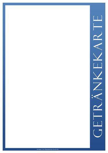 blueline Getränkekarte