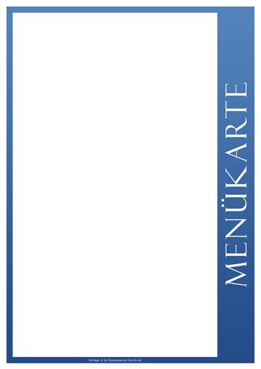 blueline Menükarte