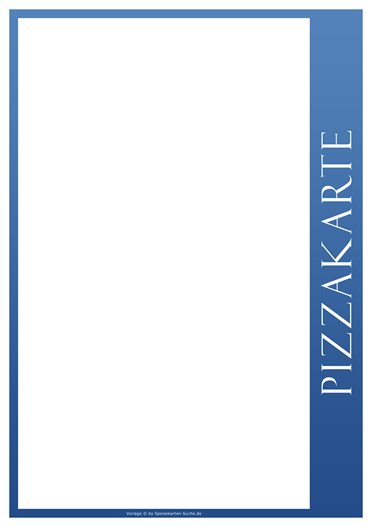 blueline Pizzakarte