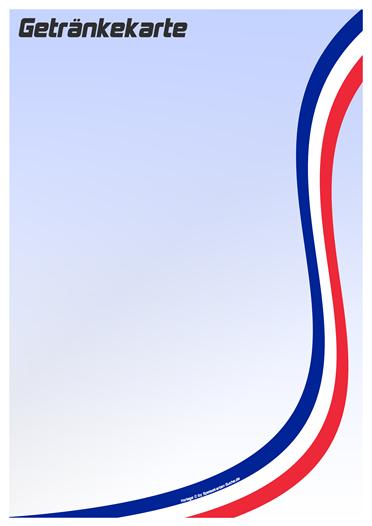 countrycard france Getränkekarte