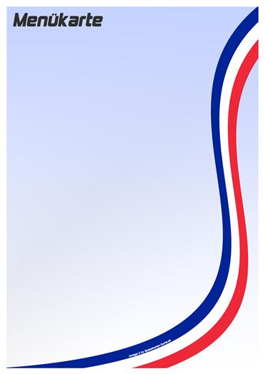 countrycard france Menükarte