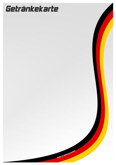 countrycard germany Getränkekarte