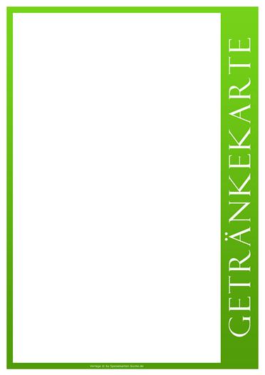 greenline Getränkekarte