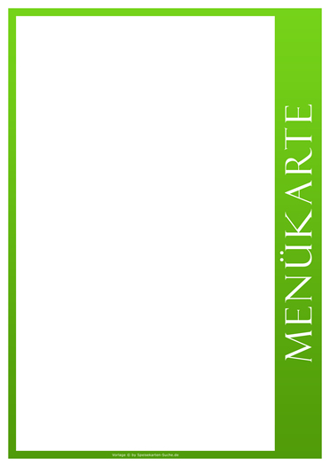greenline Menükarte