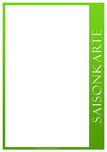greenline Saisonkarte