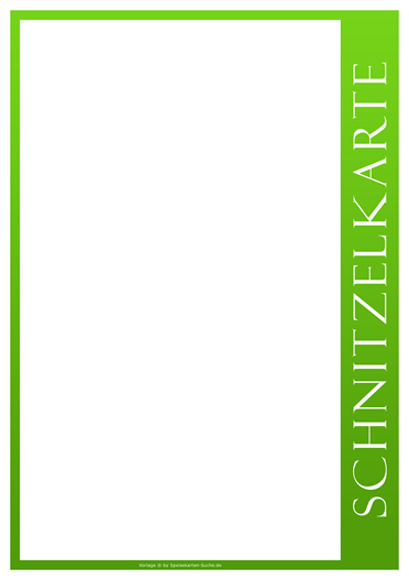 greenline Schnitzelkarte