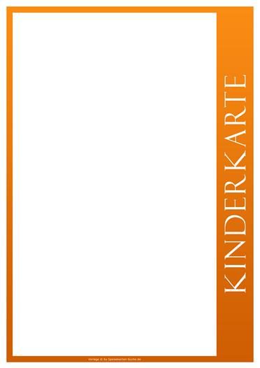 orangeline Kinderkarte
