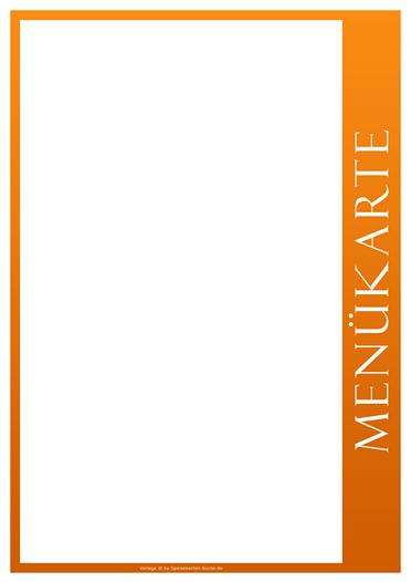 orangeline Menükarte