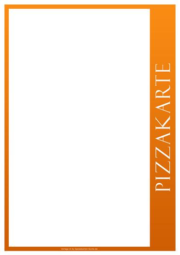 orangeline Pizzakarte