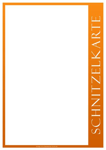 orangeline Schnitzelkarte