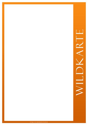 orangeline Wildkarte