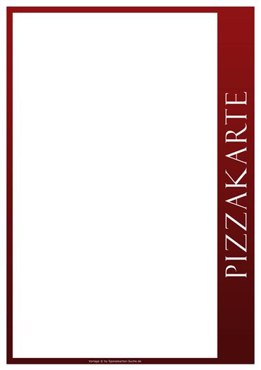 redline Pizzakarte