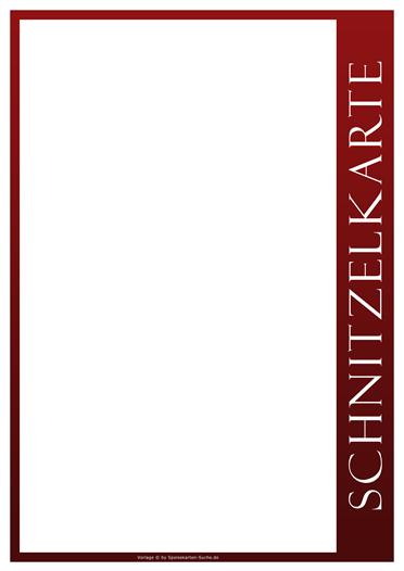 redline Schnitzelkarte