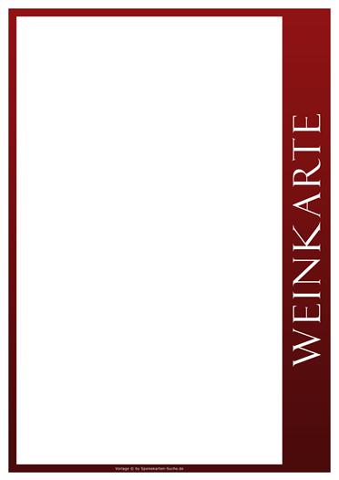 redline Weinkarte