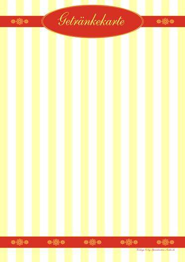 yellowstripe  Getränkekarte