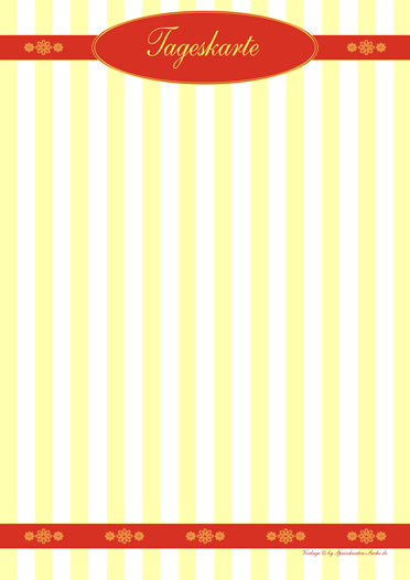 yellowstripe  Tageskarte